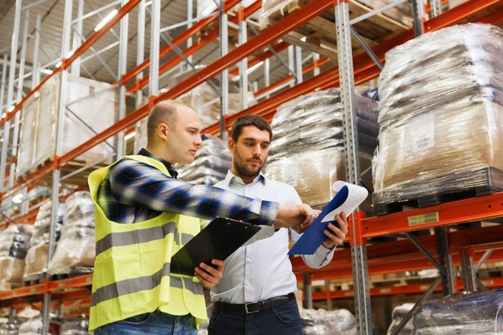 Logistics team working