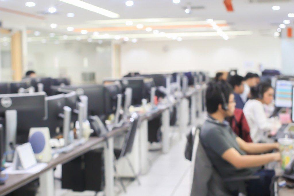Employees in a BPO company