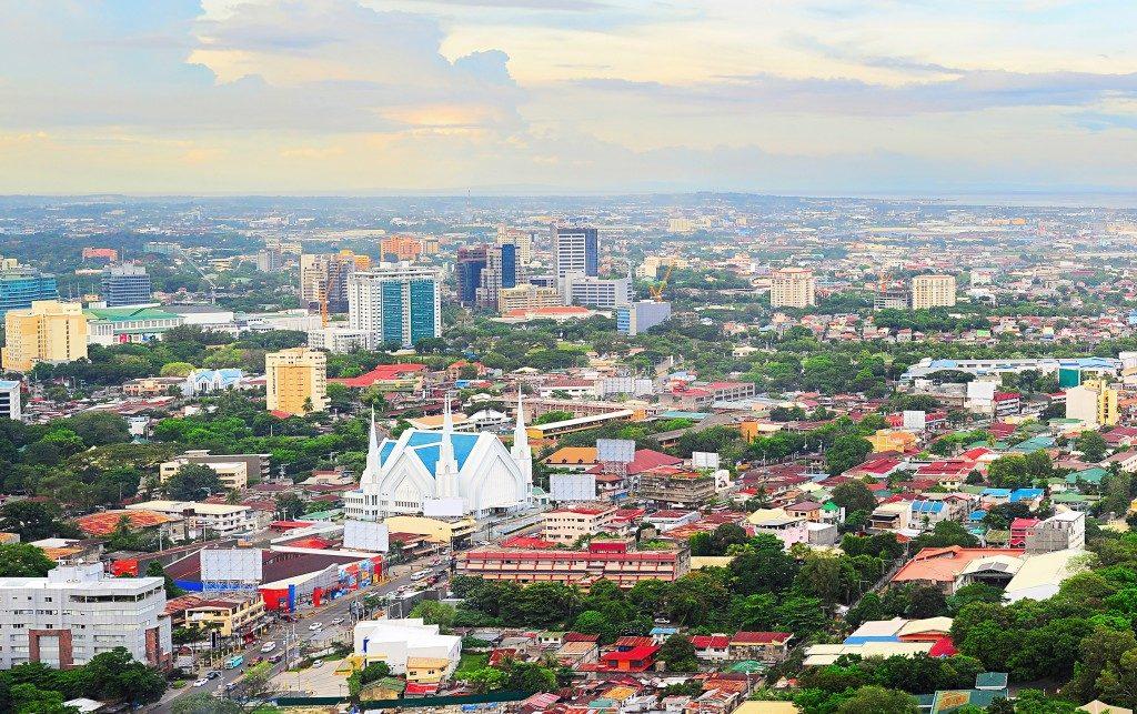 Aerial view of Cebu city