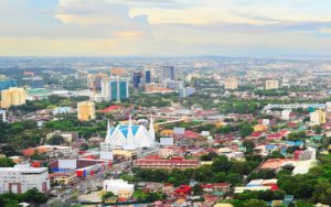 Aerial view of Cebu city