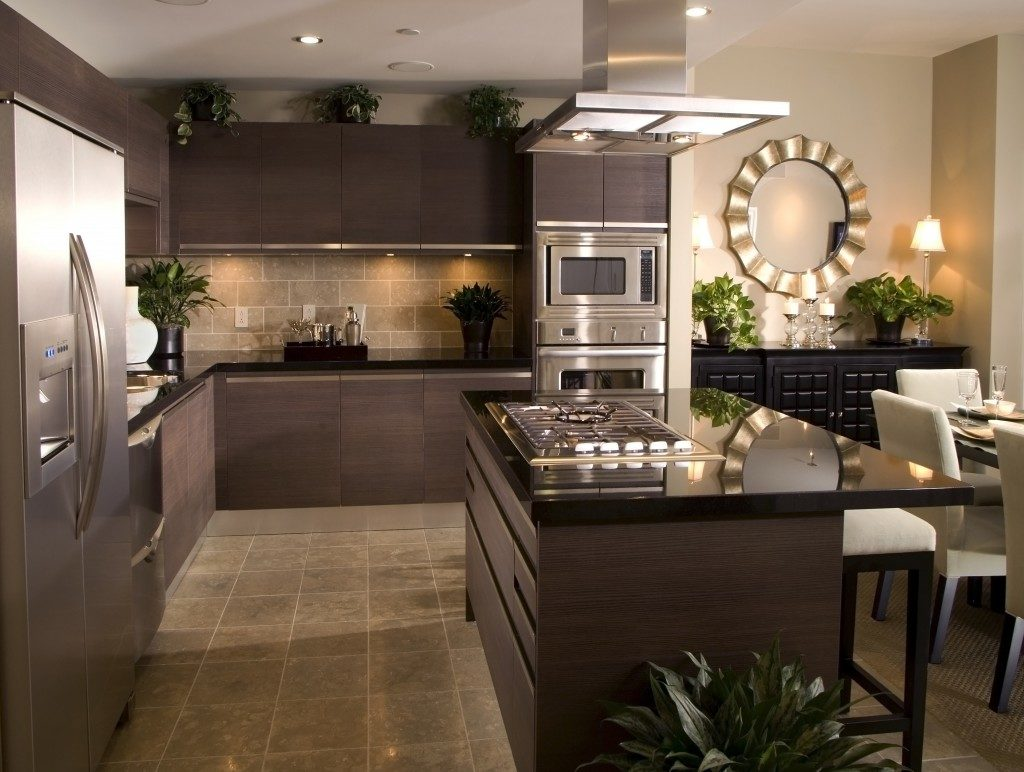 metallic kitchen design