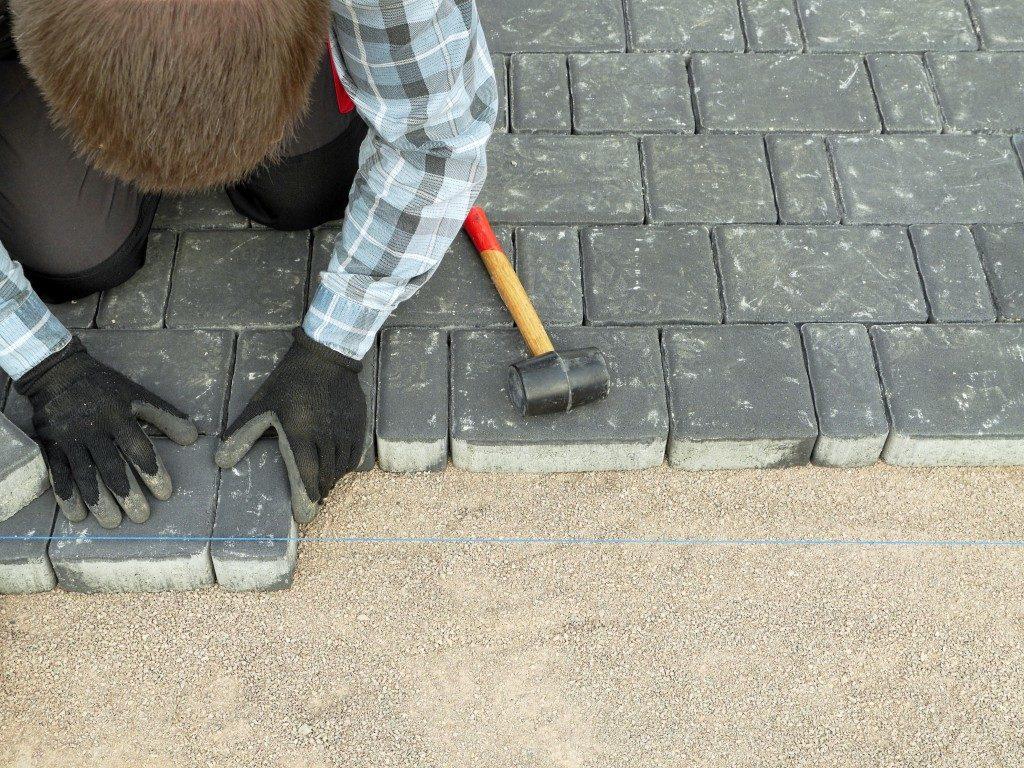 concrete pavement blocks for walkway