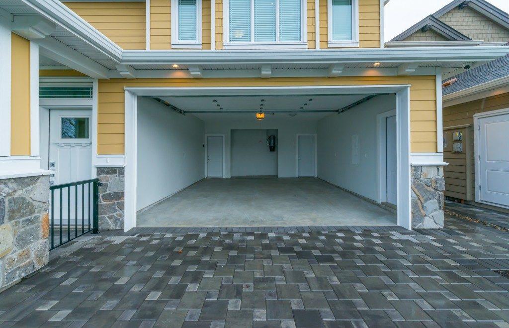 Open garage door