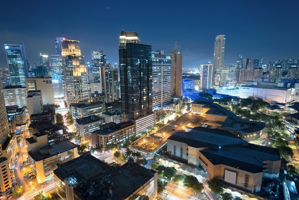 business district of Metro Manila