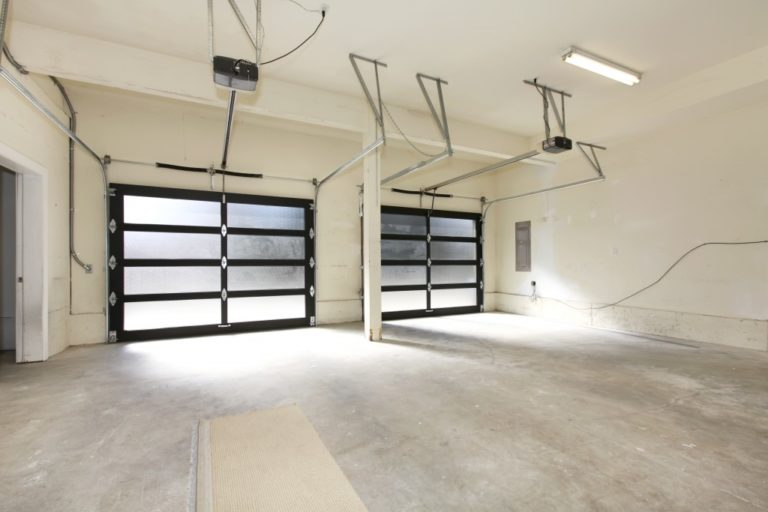 empty space in the garage