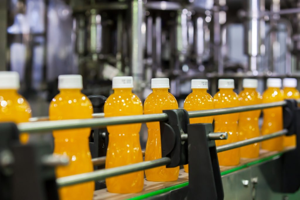 factory production of soda bottles
