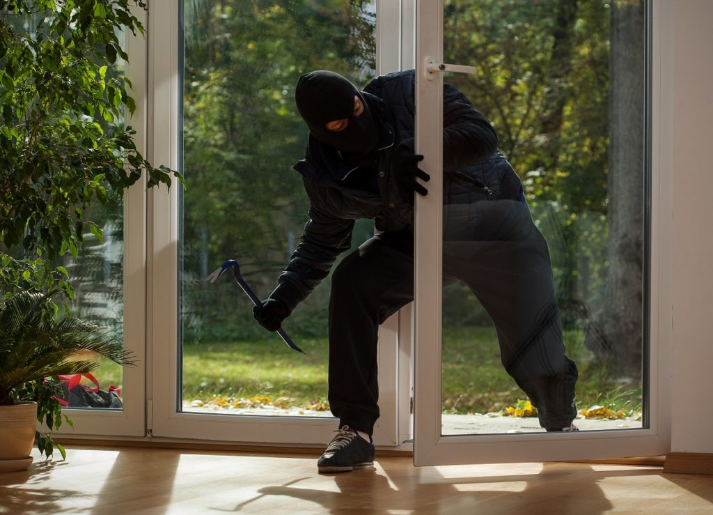 robber entering the house