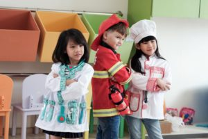 children with career costumes