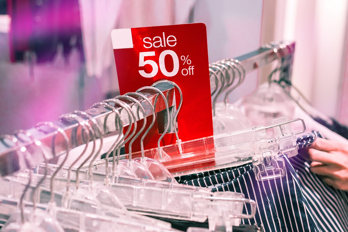 sale tag on clothes