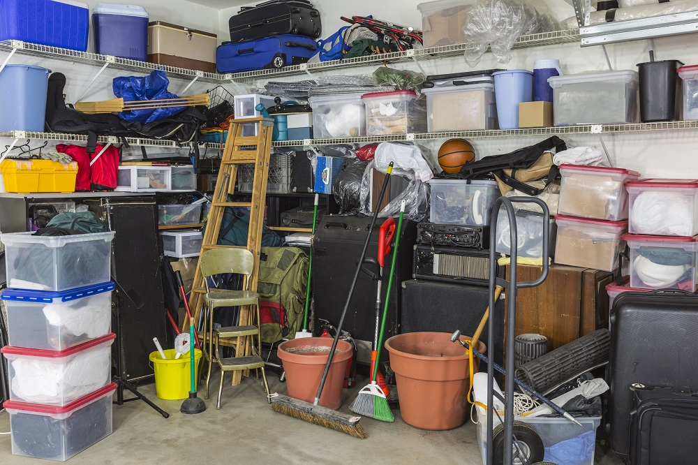 unorganized garage