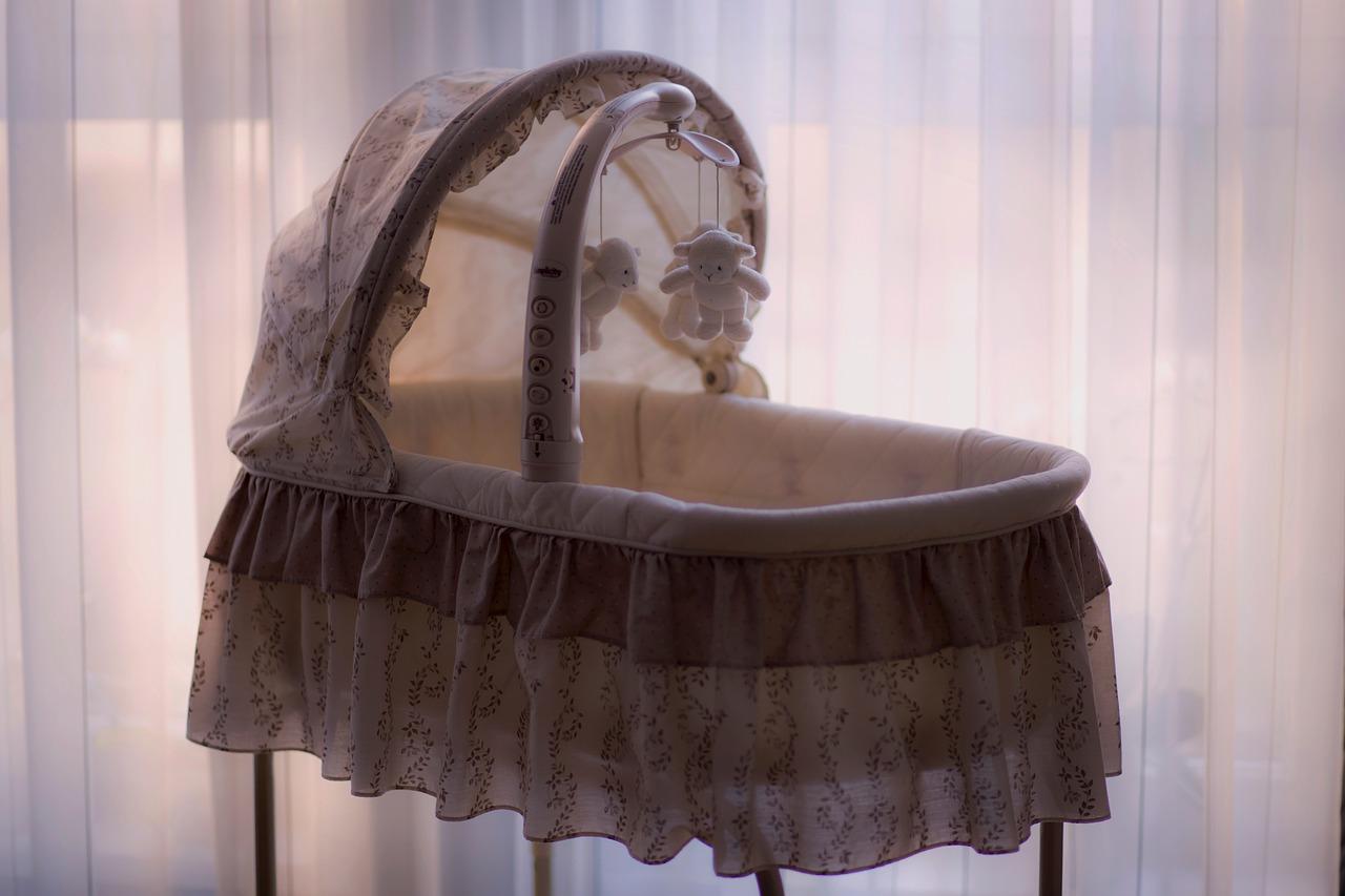 bassinet near the window
