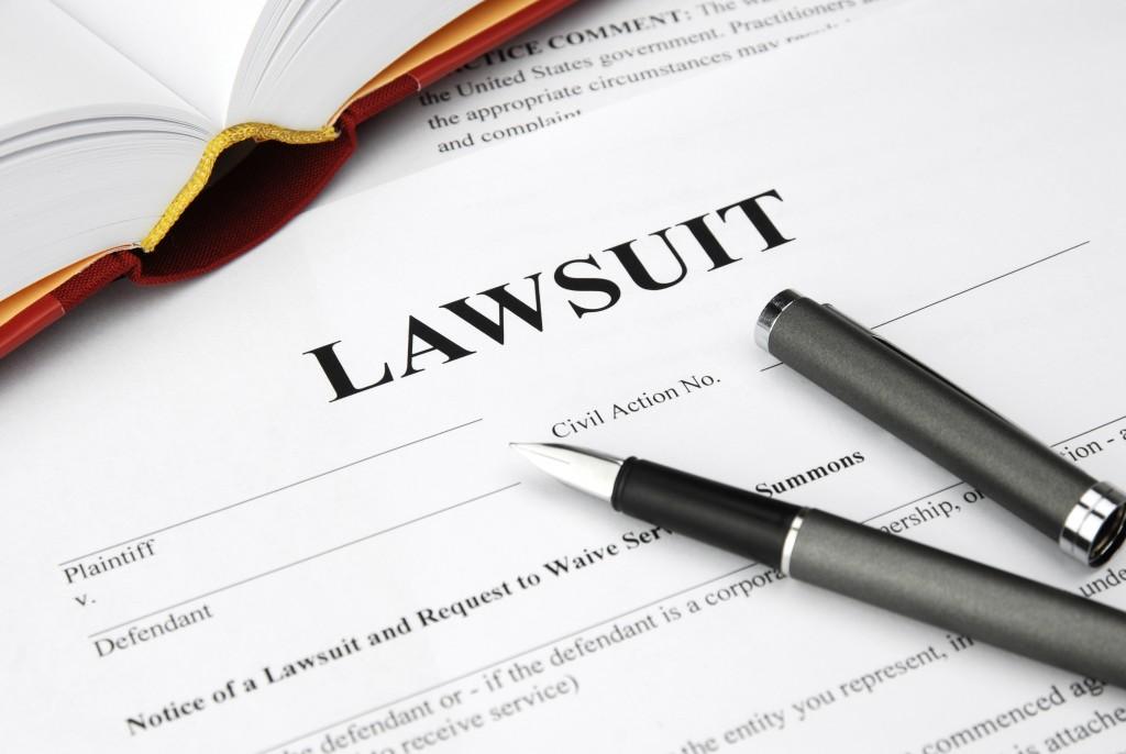 pen on a lawsuit