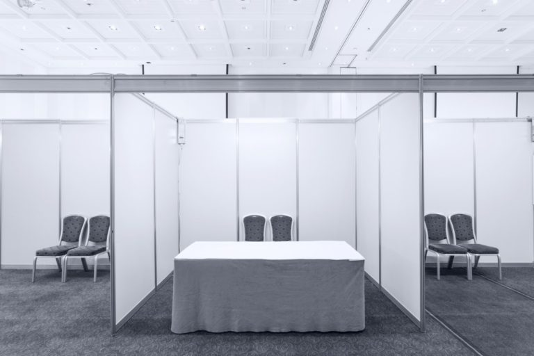 empty trade show booth
