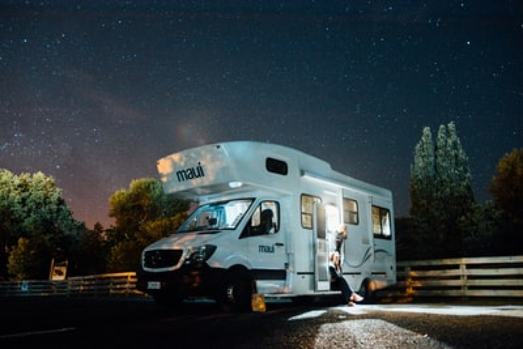 RV Camper out on the road