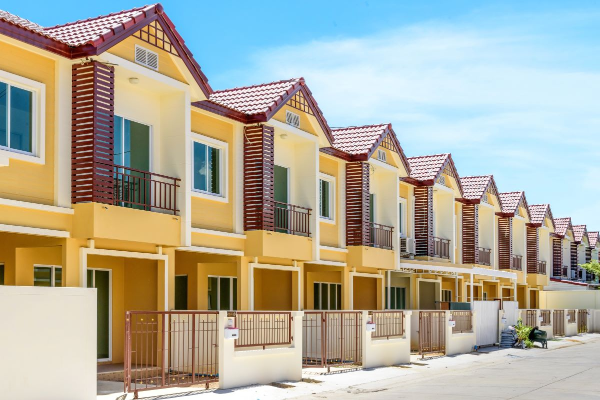 town houses arranged in a row